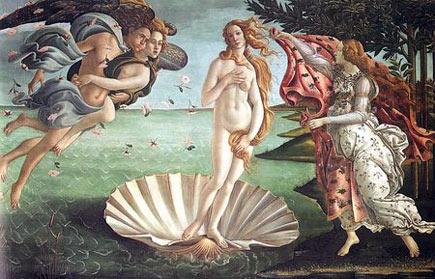 Botticelli, La naissance de Vénus